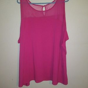 Lane Bryant pink sleeveless top size 26/28